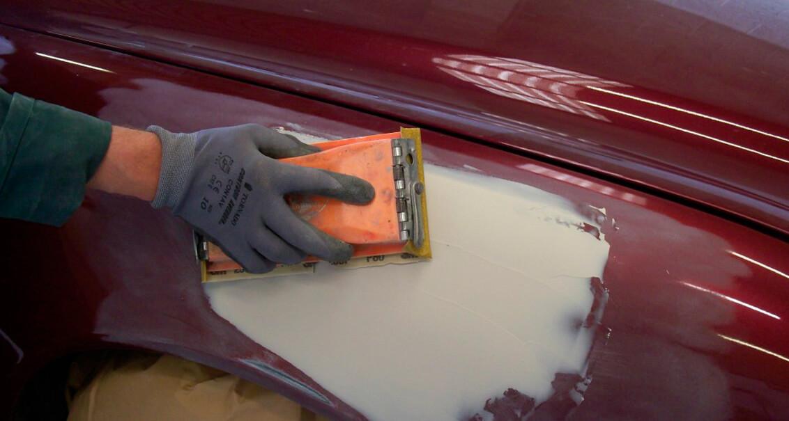 Авто шпаклевка покраска своими руками 62